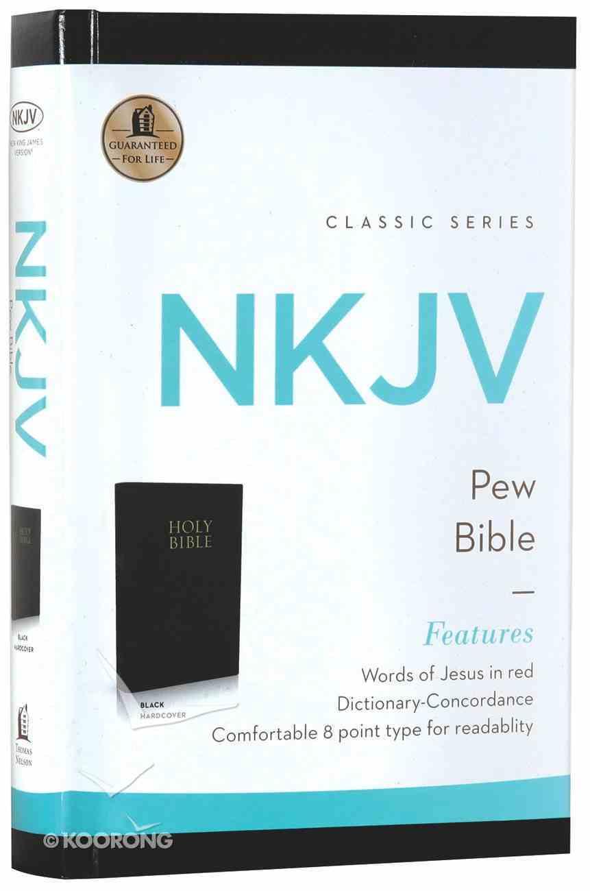 NKJV Pew Bible Black (Red Letter Edition) Hardback