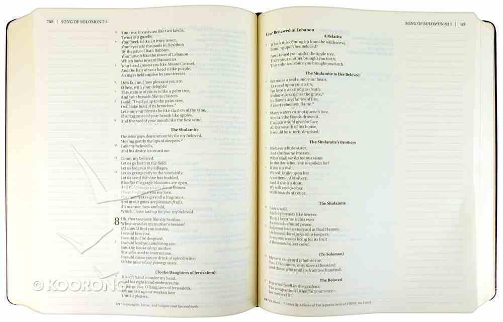 NKJV Holy Bible Journal Edition Black (Red Letter Edition) Hardback