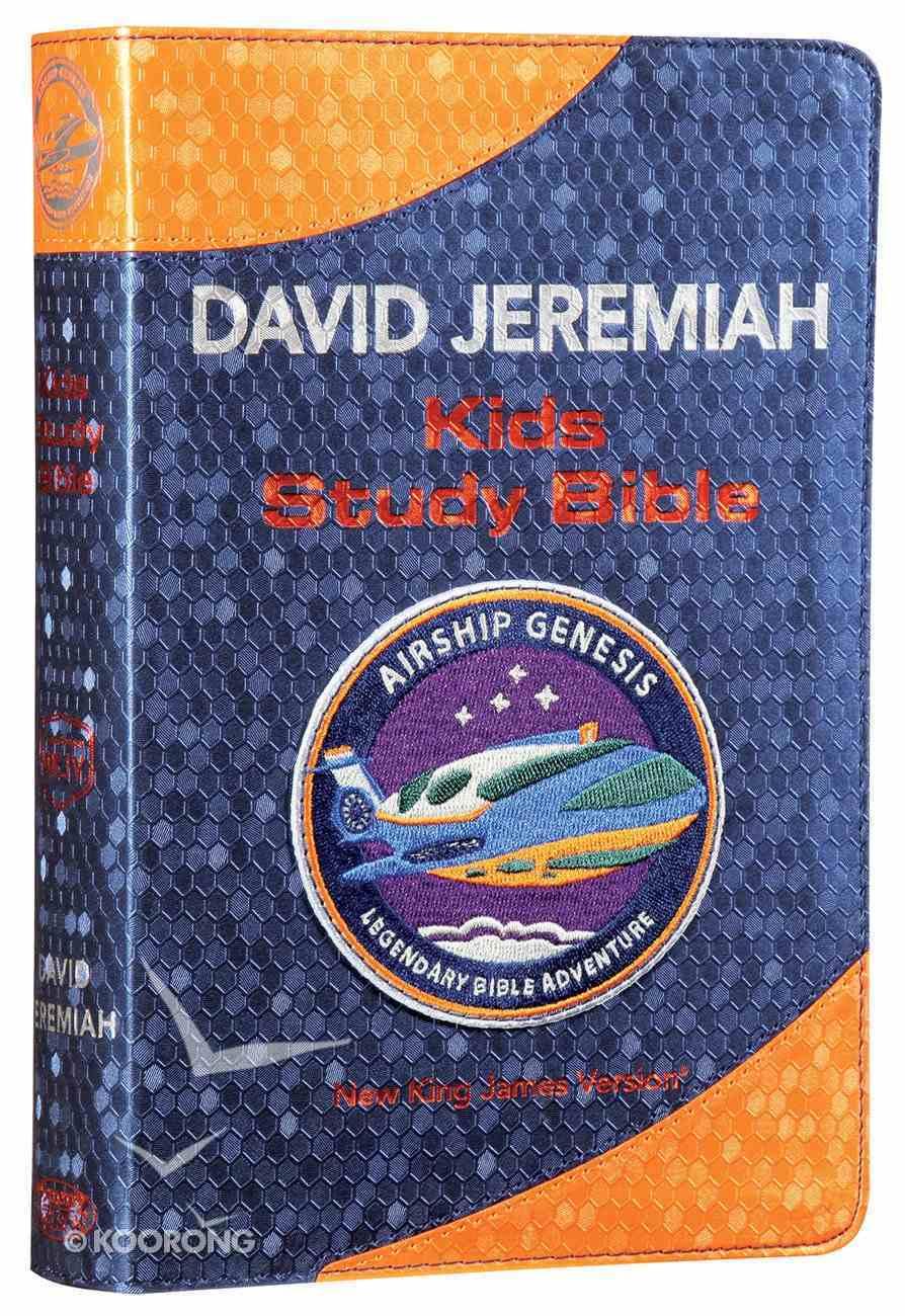 NKJV Airship Genesis Kids Study Bible Navy Premium Imitation Leather