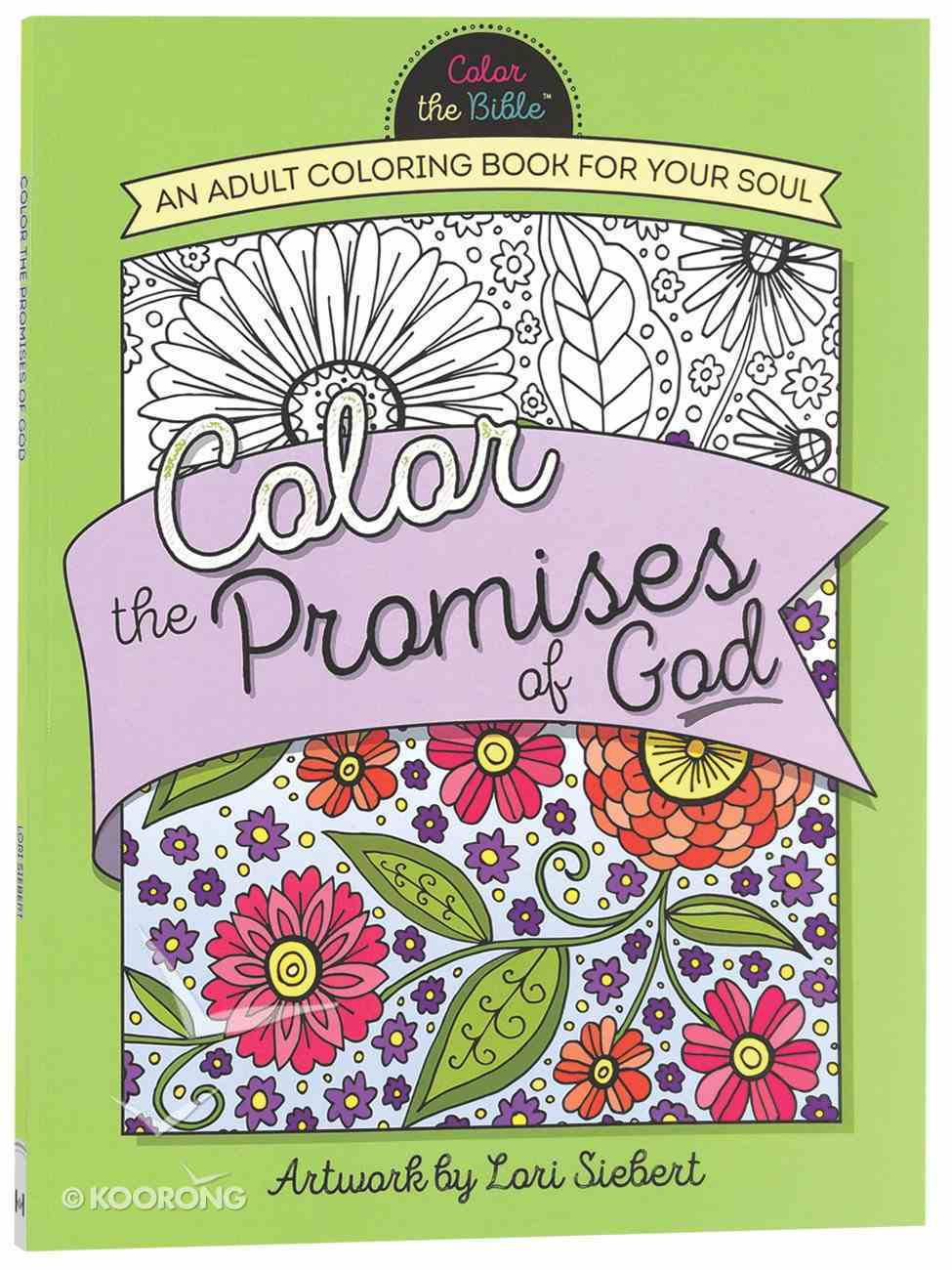 Color the Promises of God (Adult Coloring Books Series) Paperback