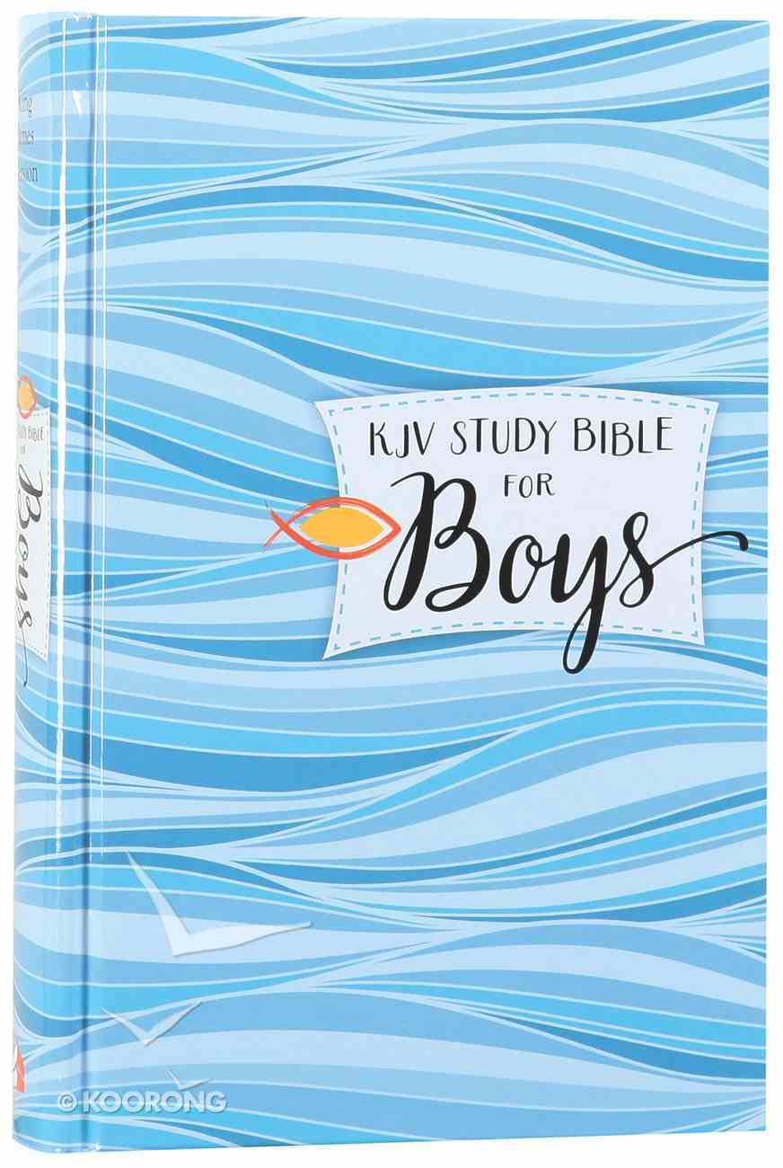 KJV Study Bible For Boys Granite/Copper (Red Letter Edition) Hardback