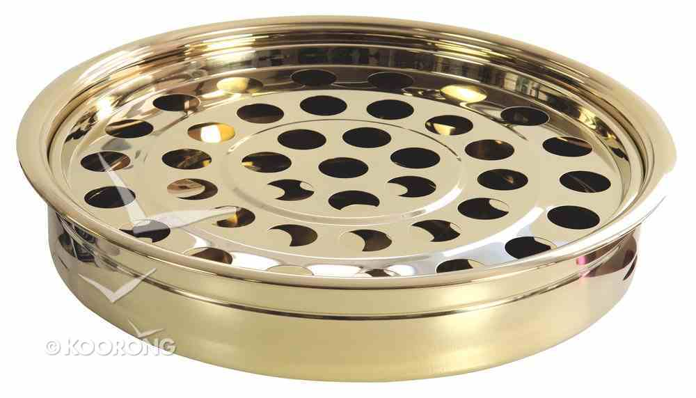 Communion Tray and Disc: Brass Church Supplies