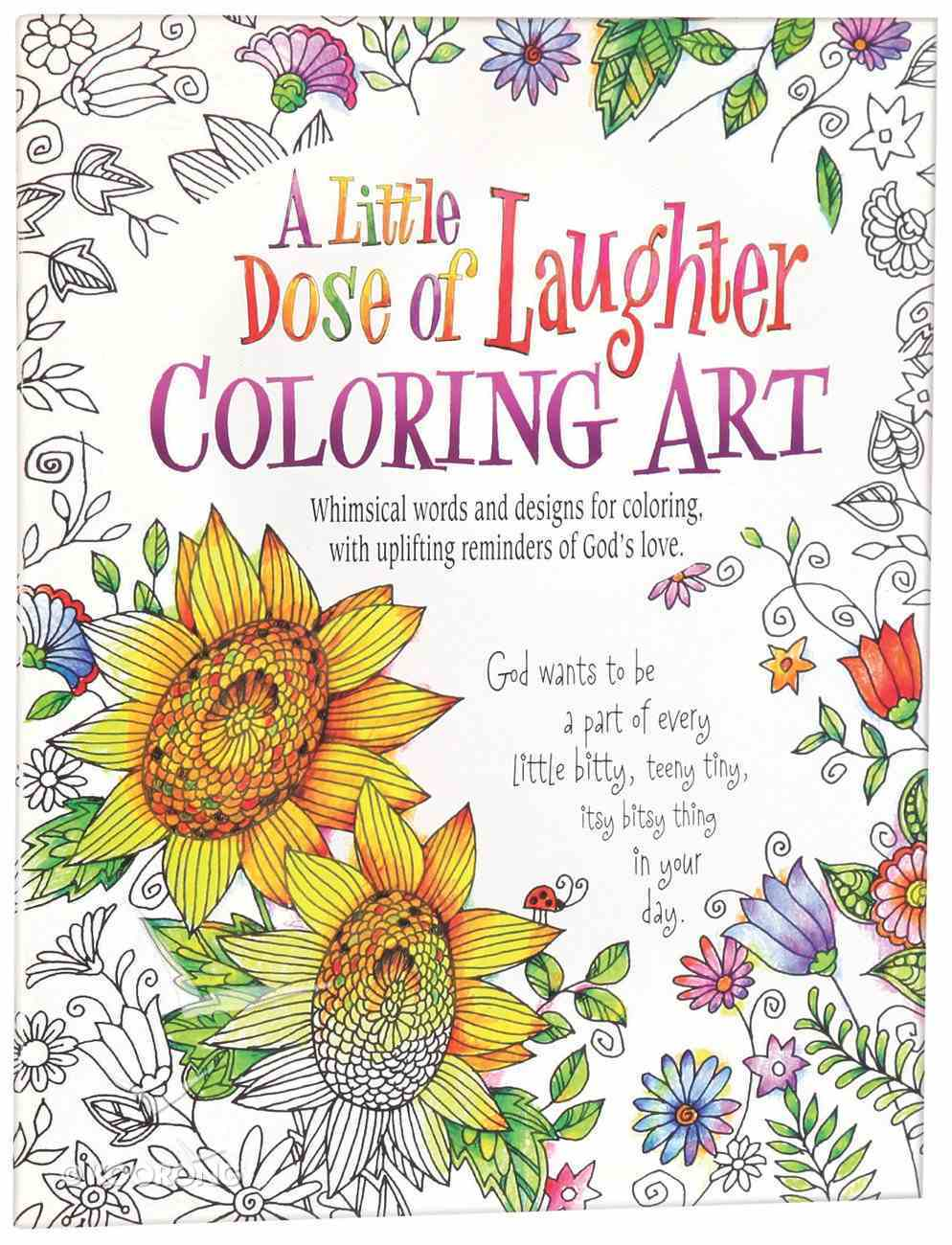 A Little Dose of Laughter Coloring Art (Adult Coloring Books Series) Paperback