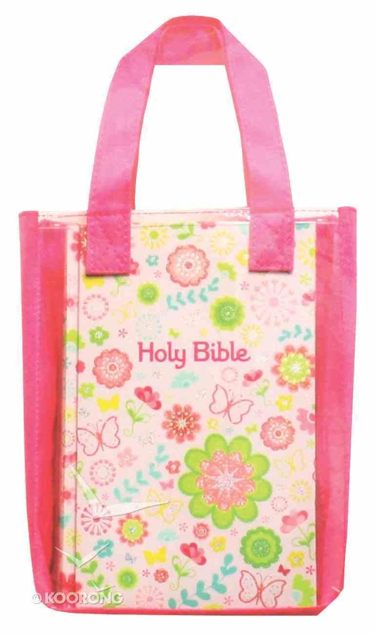 ICB Sequin Bible Compact Pink (Black Letter Edition) Hardback