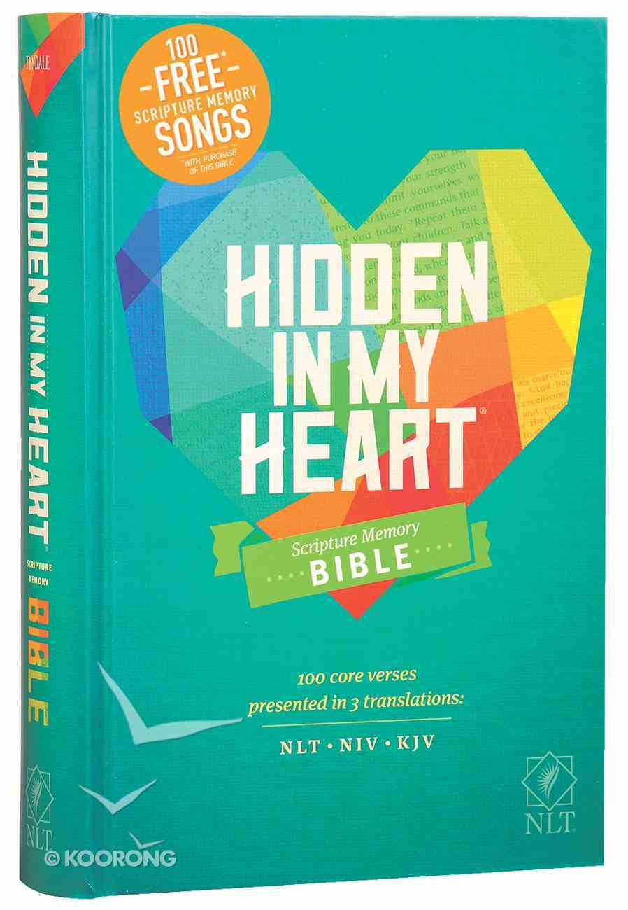 NLT Hidden in My Heart Scripture Memory Bible With 100 Free Songs (Black Letter Edition) Hardback