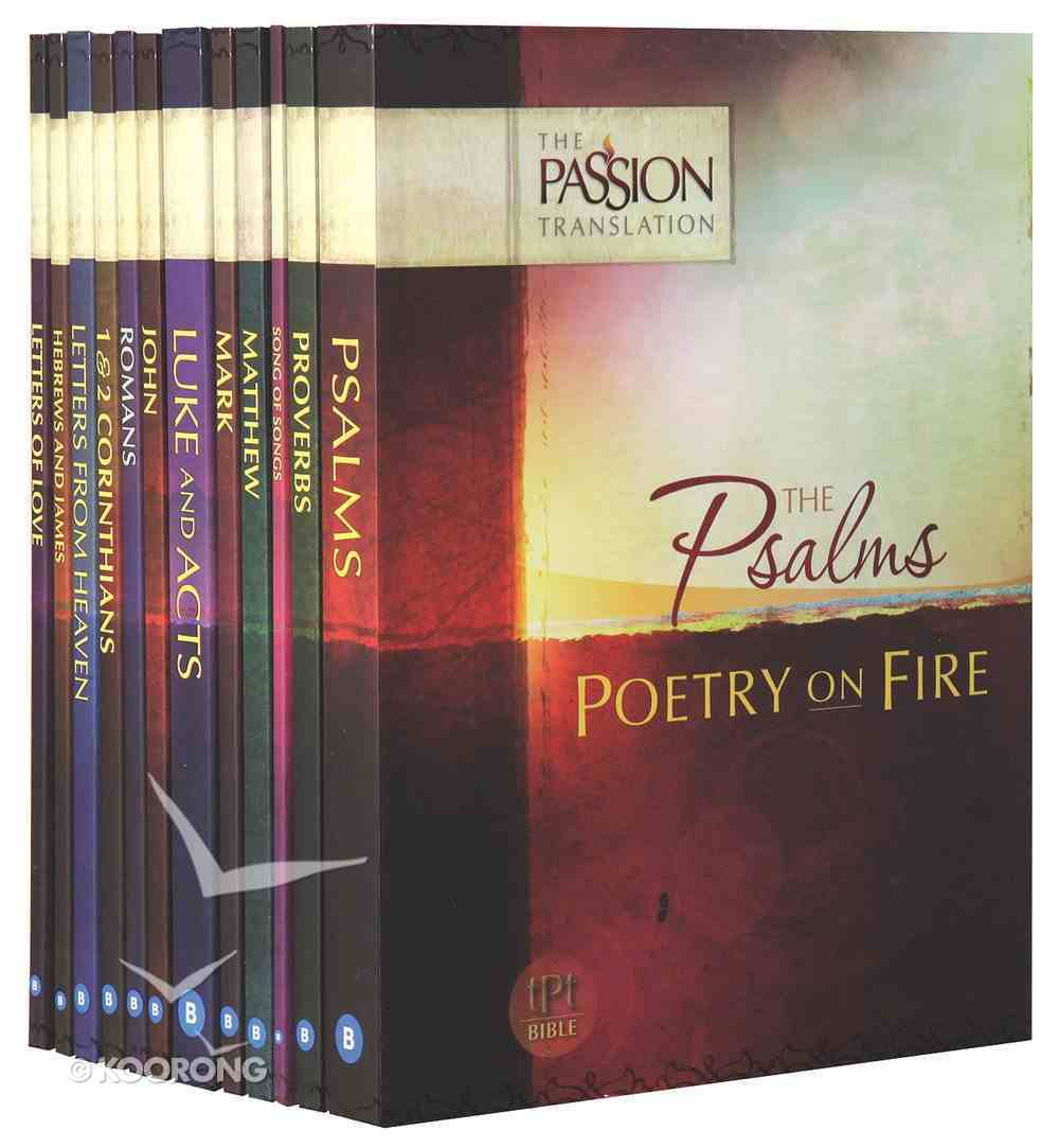 TPT Passion Translation: Encounter the Heart of God (Black Letter Edition) (12-pack) Pack