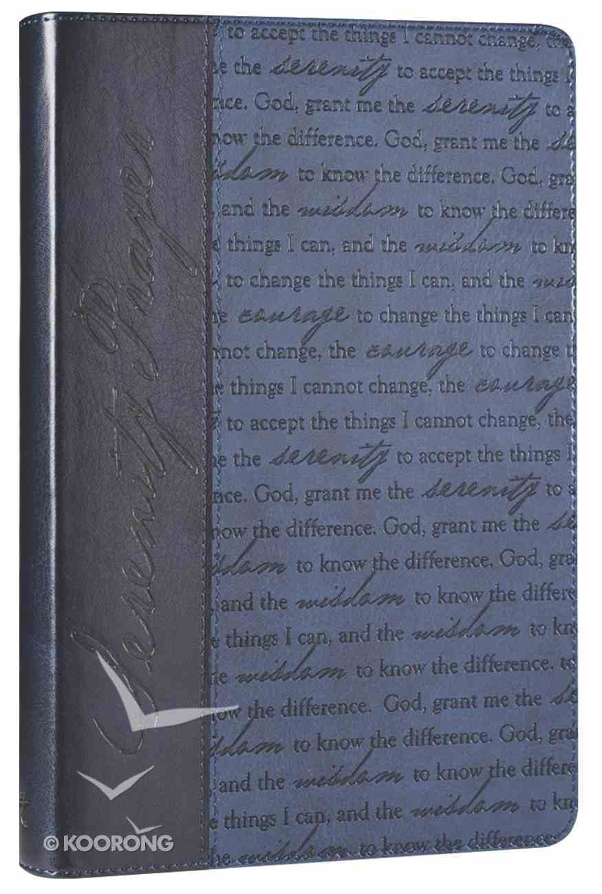Classic Journal: Serenity Prayer Blue Luxleather Imitation Leather