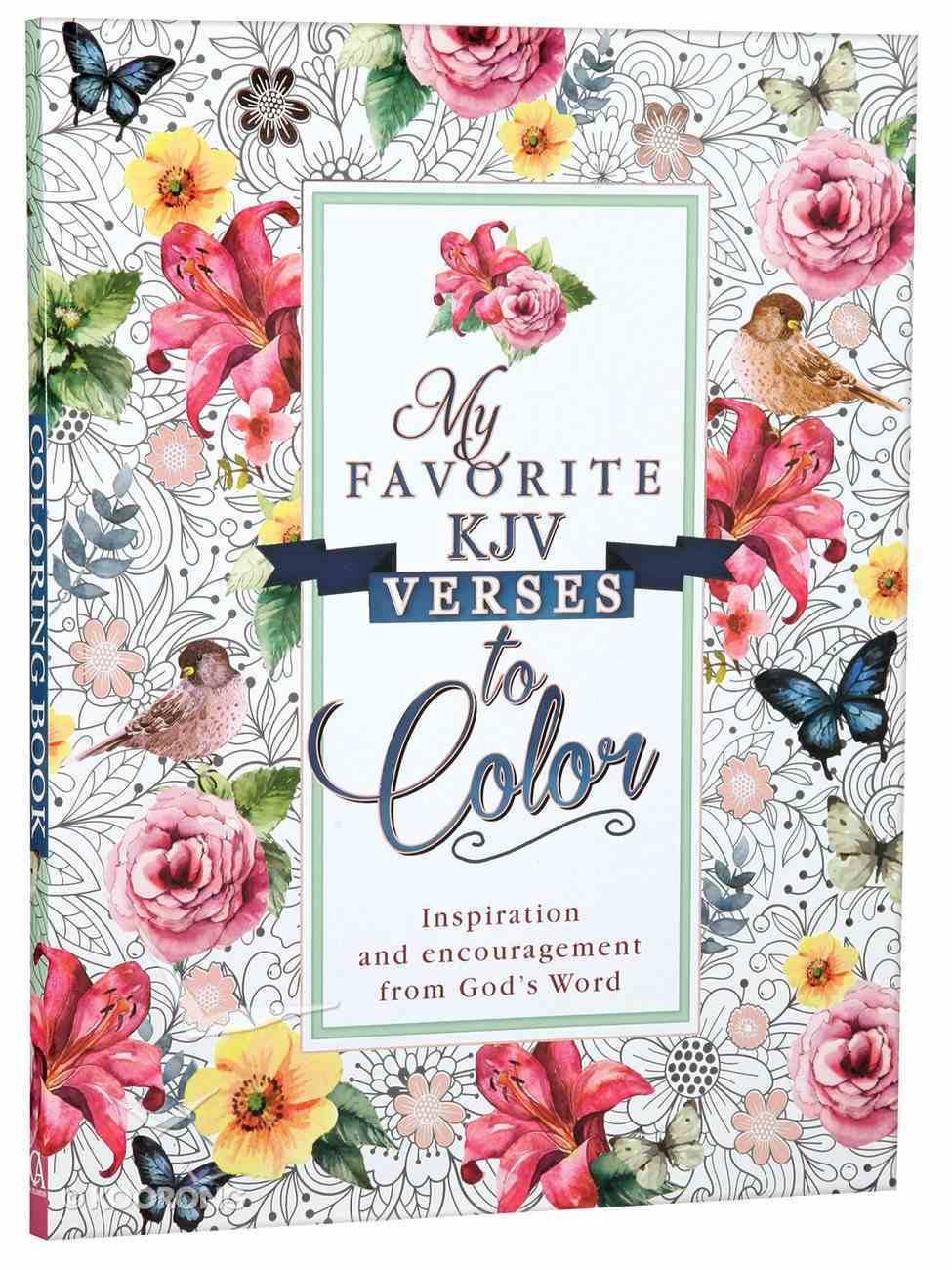 Coloring Book My Favorite KJV Verses (Adult Coloring Books Series) Paperback