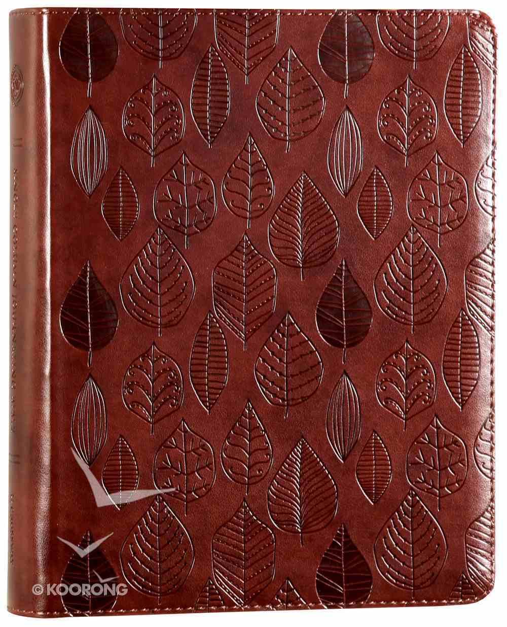 ESV Single Column Journaling Bible Chestnut Leaves (Black Letter Edition) Imitation Leather