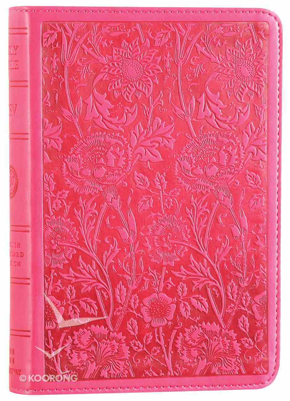 ESV Large Print Compact Bible Berry Floral Design (Red Letter Edition) Imitation Leather