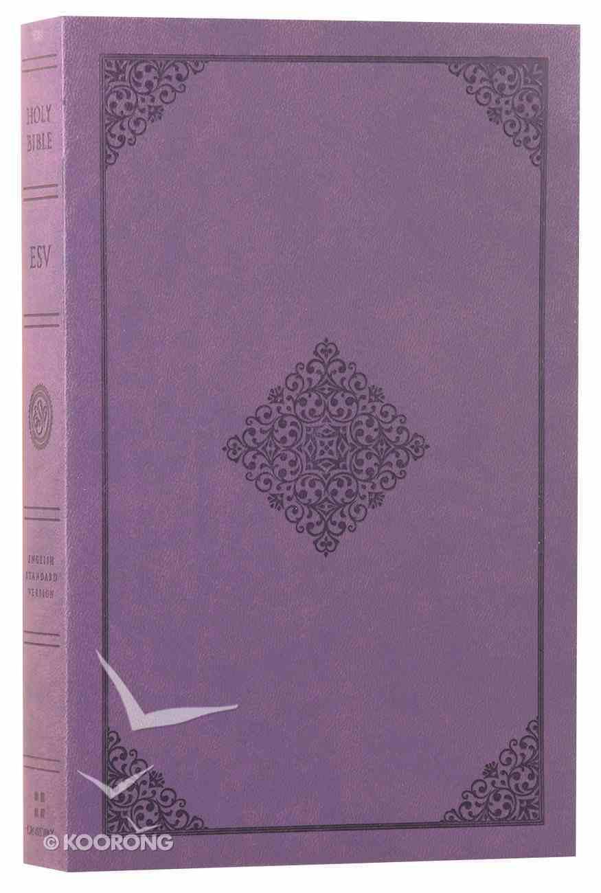 ESV Value Edition Bible Truflat Lavender Ornament (Black Letter Edition) Flexi Back
