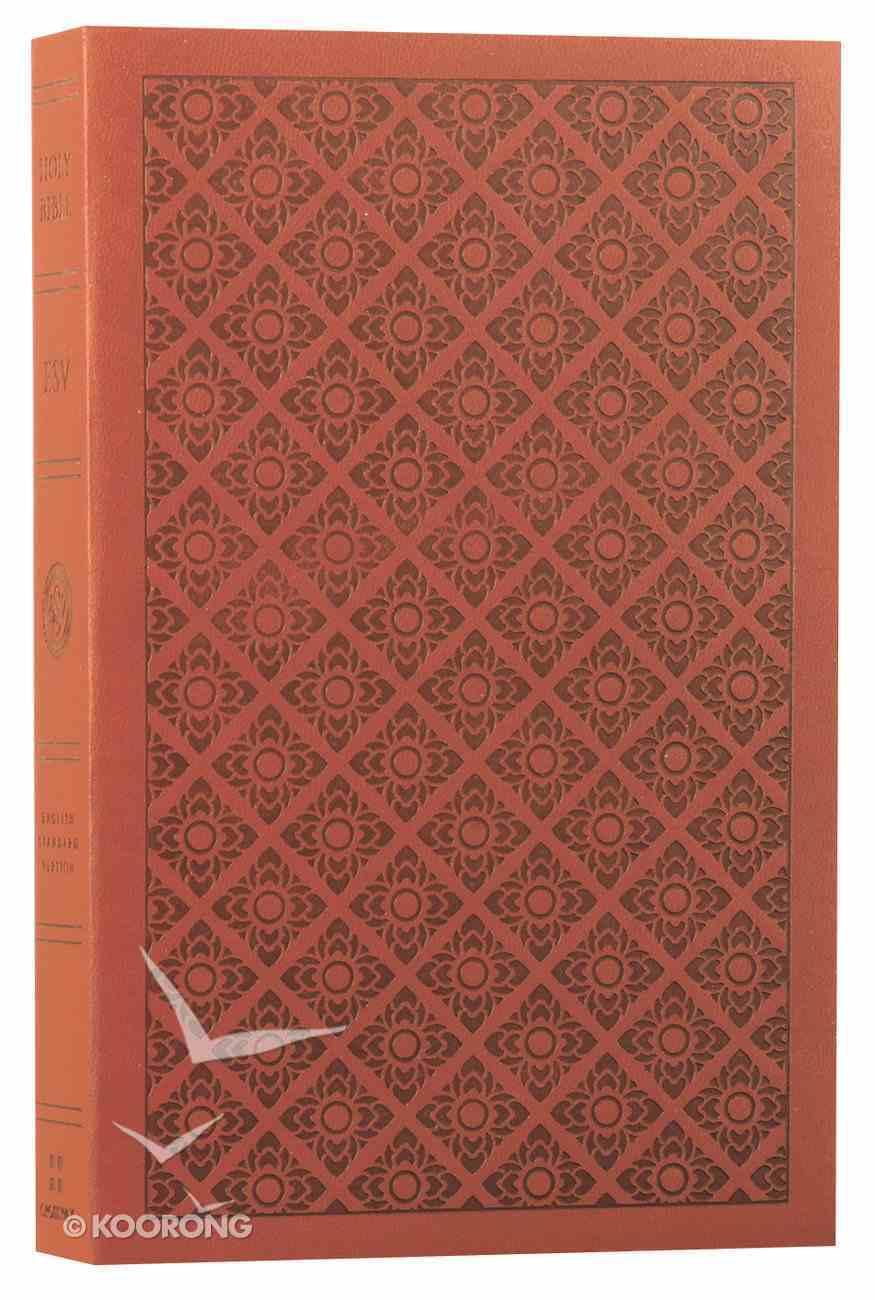 ESV Value Edition Bible Truflat Sienna Flower Print (Black Letter Edition) Flexi Back