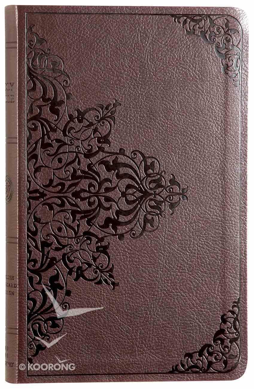 ESV Premium Gift Bible Chestnut Filigree Design Imitation Leather