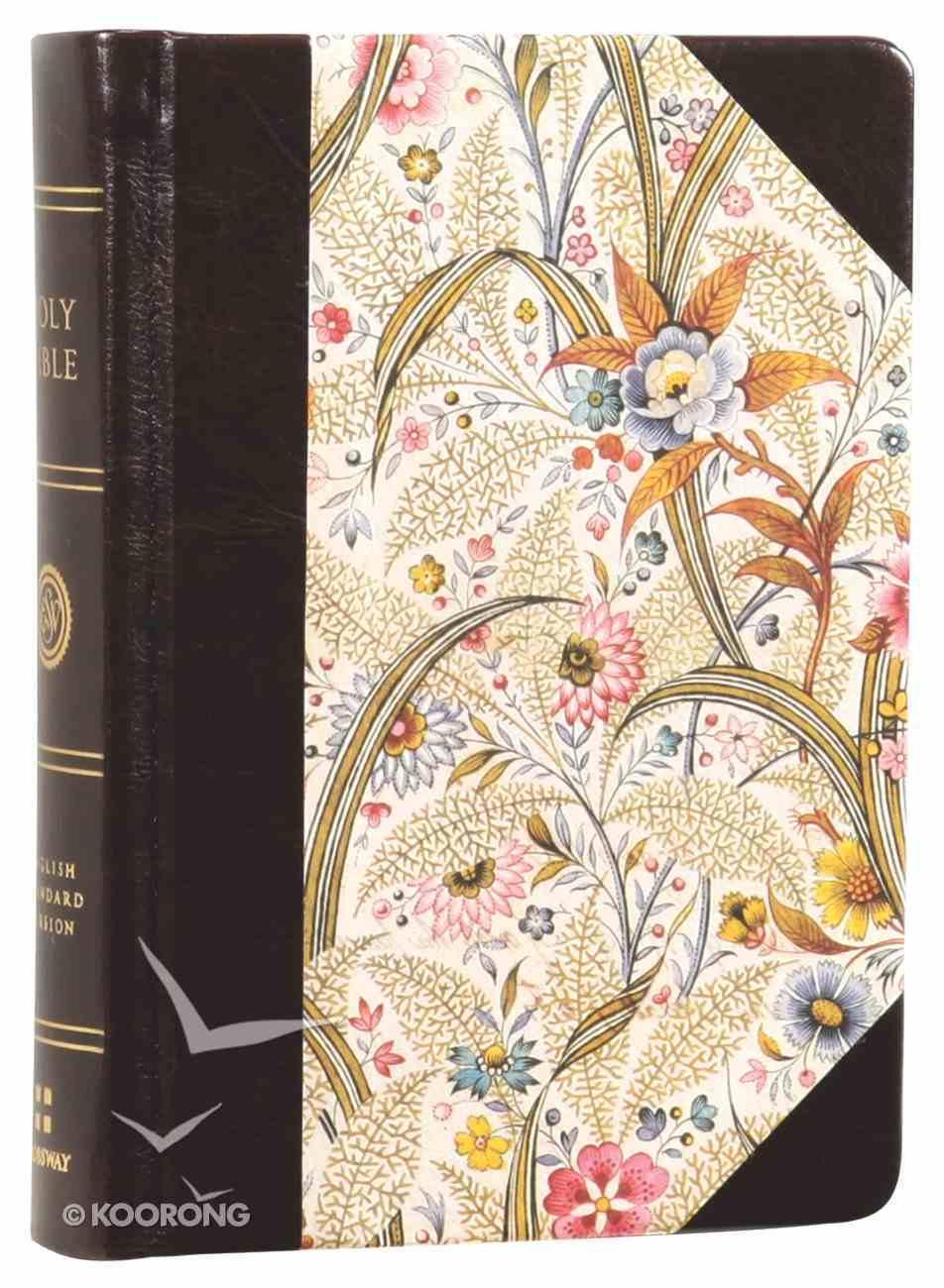 ESV Large Print Compact Bible Summer Garden Red Letter Edition Hardback