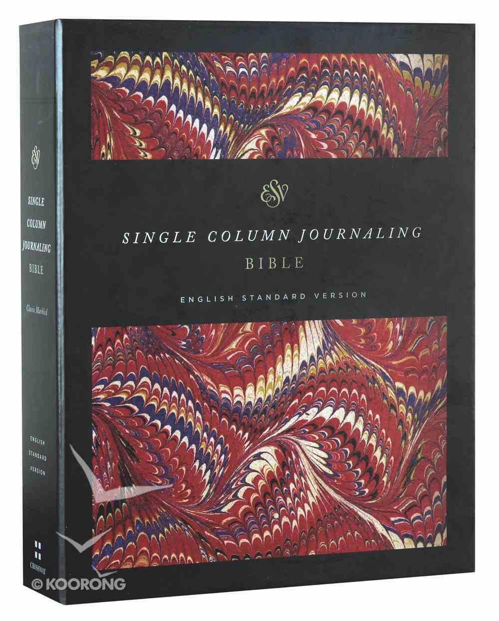 ESV Single Column Journaling Bible Classic Marbled (Black Letter Edition) Hardback