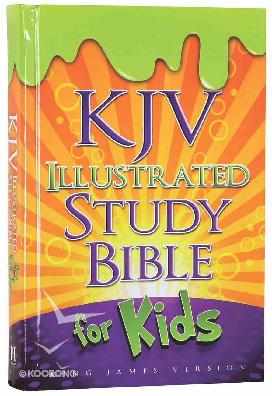 KJV Illustrated Study Bible For Kids (Orange) Hardback