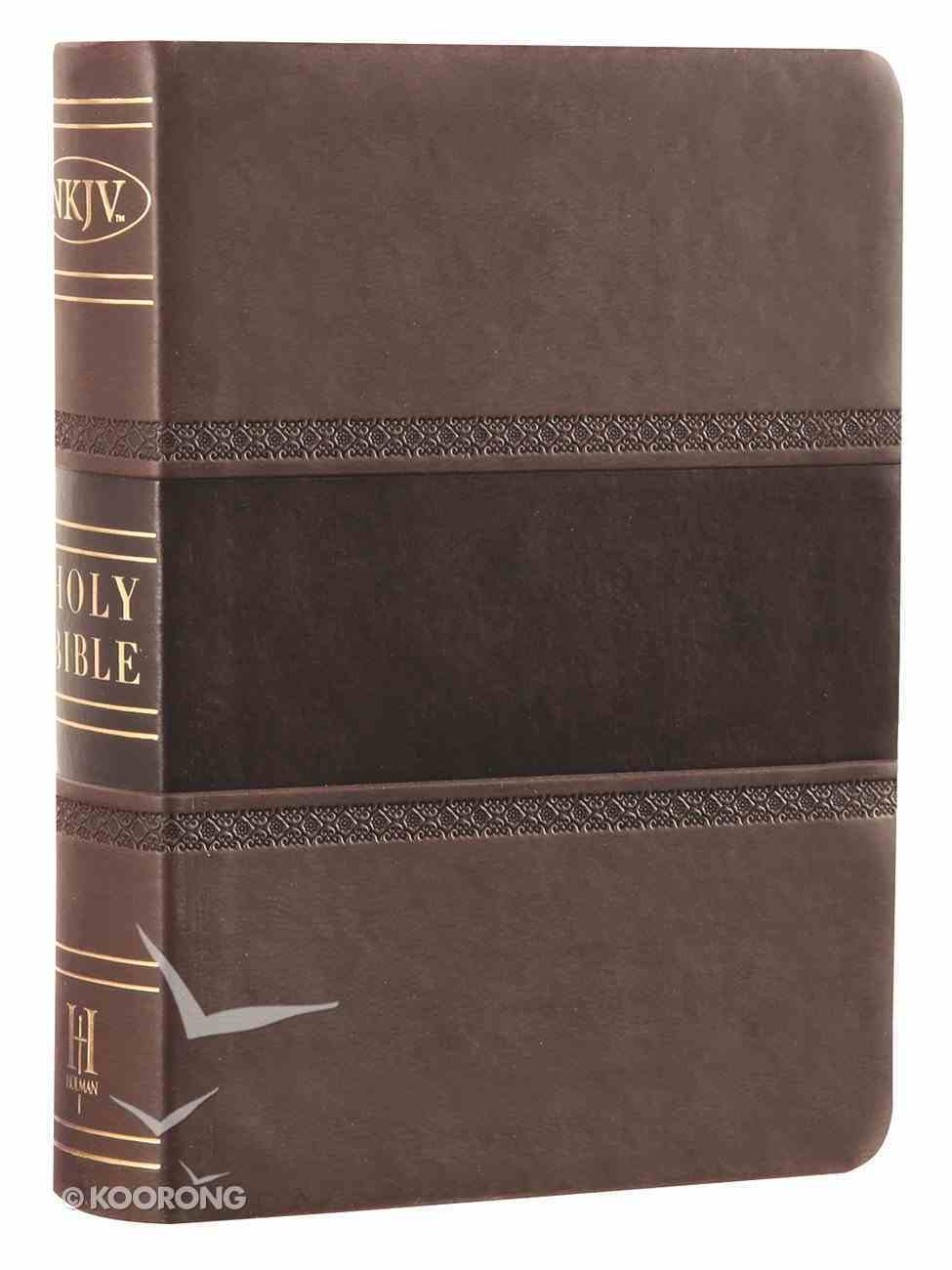 NKJV Large Print Compact Reference Bible Brown/Chocolate Leathertouch Premium Imitation Leather