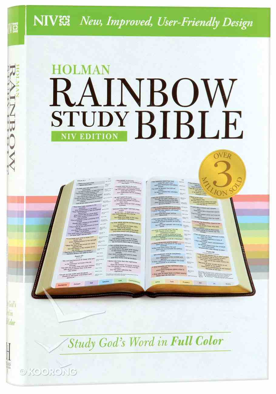 NIV Rainbow Study Bible (Black Letter Edition) Hardback