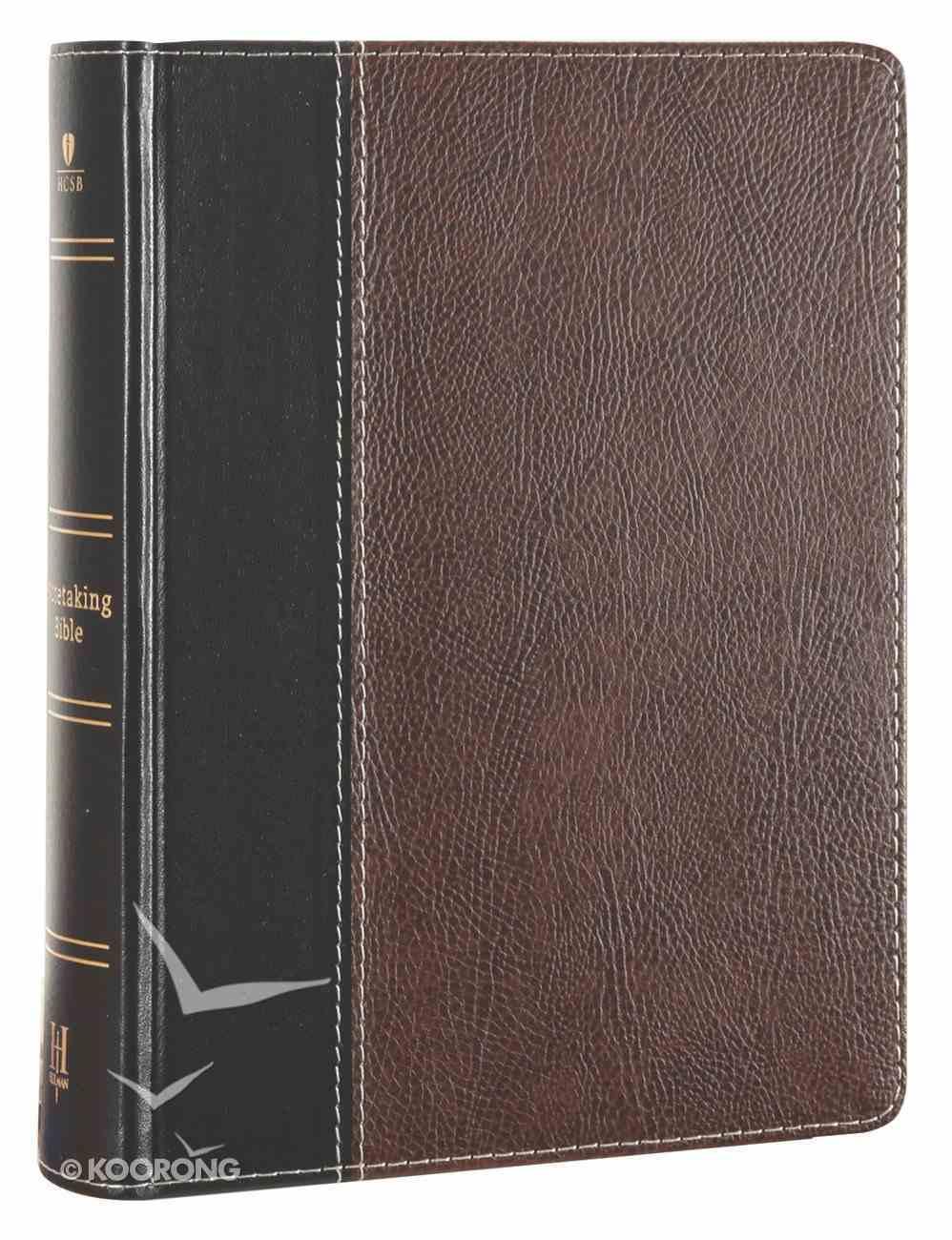 HCSB Notetaking Bible Black/Brown Bonded Leather