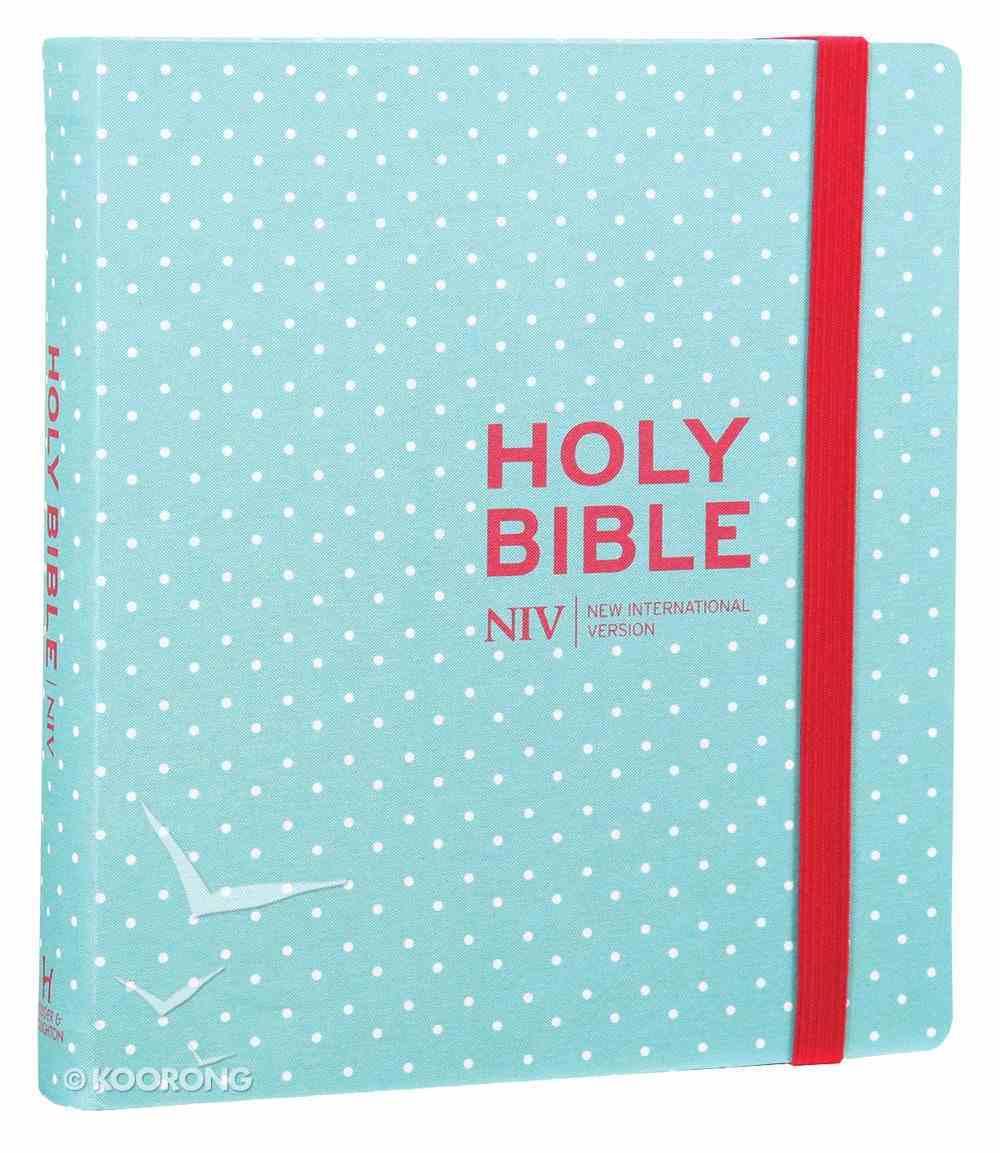 NIV Journalling Bible Mint Polka Dot Hardback