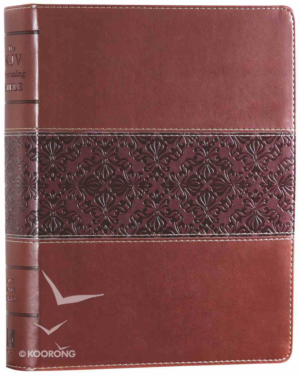 KJV Wide Margin Personal Notes Bible Brown Tan (Red Letter Edition) Imitation Leather
