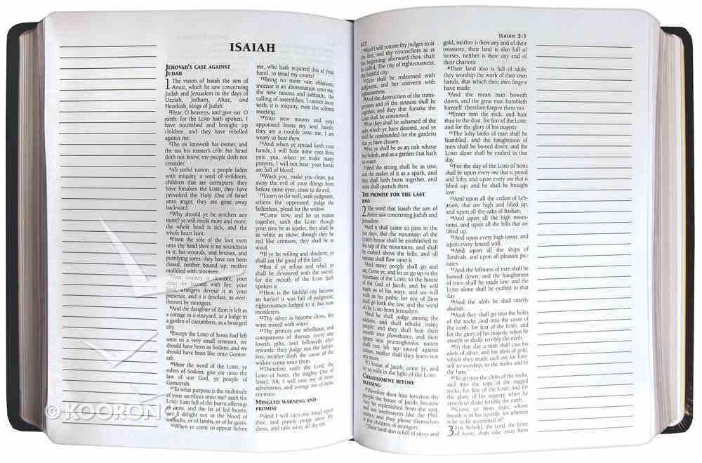 KJV Wide Margin Personal Notes Bible Brown (Red Letter Edition) Bonded Leather