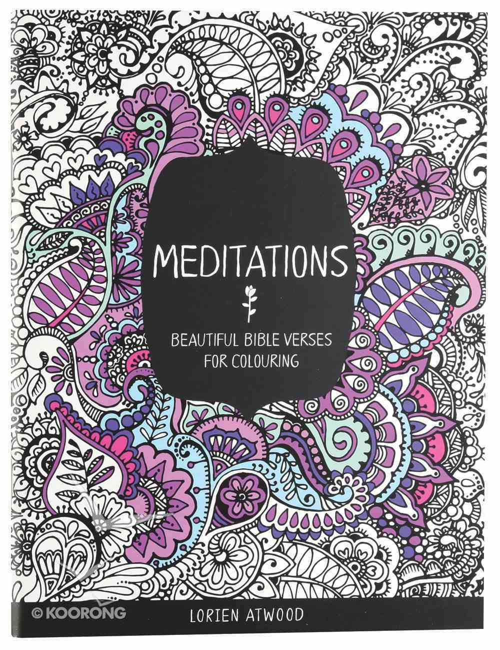 Meditations (Adult Coloring Books Series) Paperback
