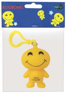 Emoji Keyring Smiley Face: Jesus Loves Me Novelty