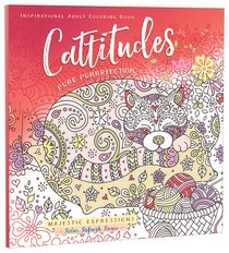 Product: Adult Coloring Book: Cattitudes Pure Purrrfection (Majestic Expressions) Image