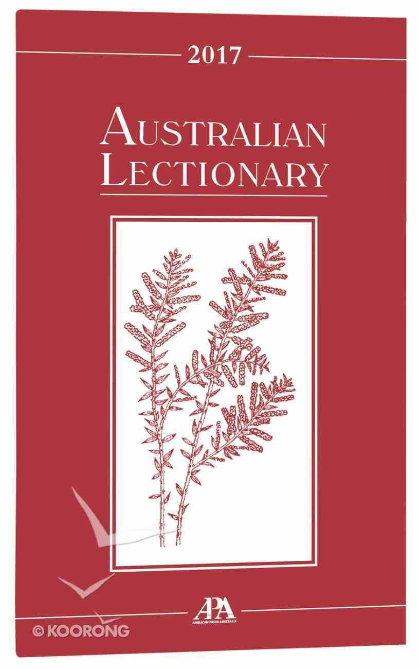 2017 Australian Lectionary An Australian Prayer Book (Year A) Paperback