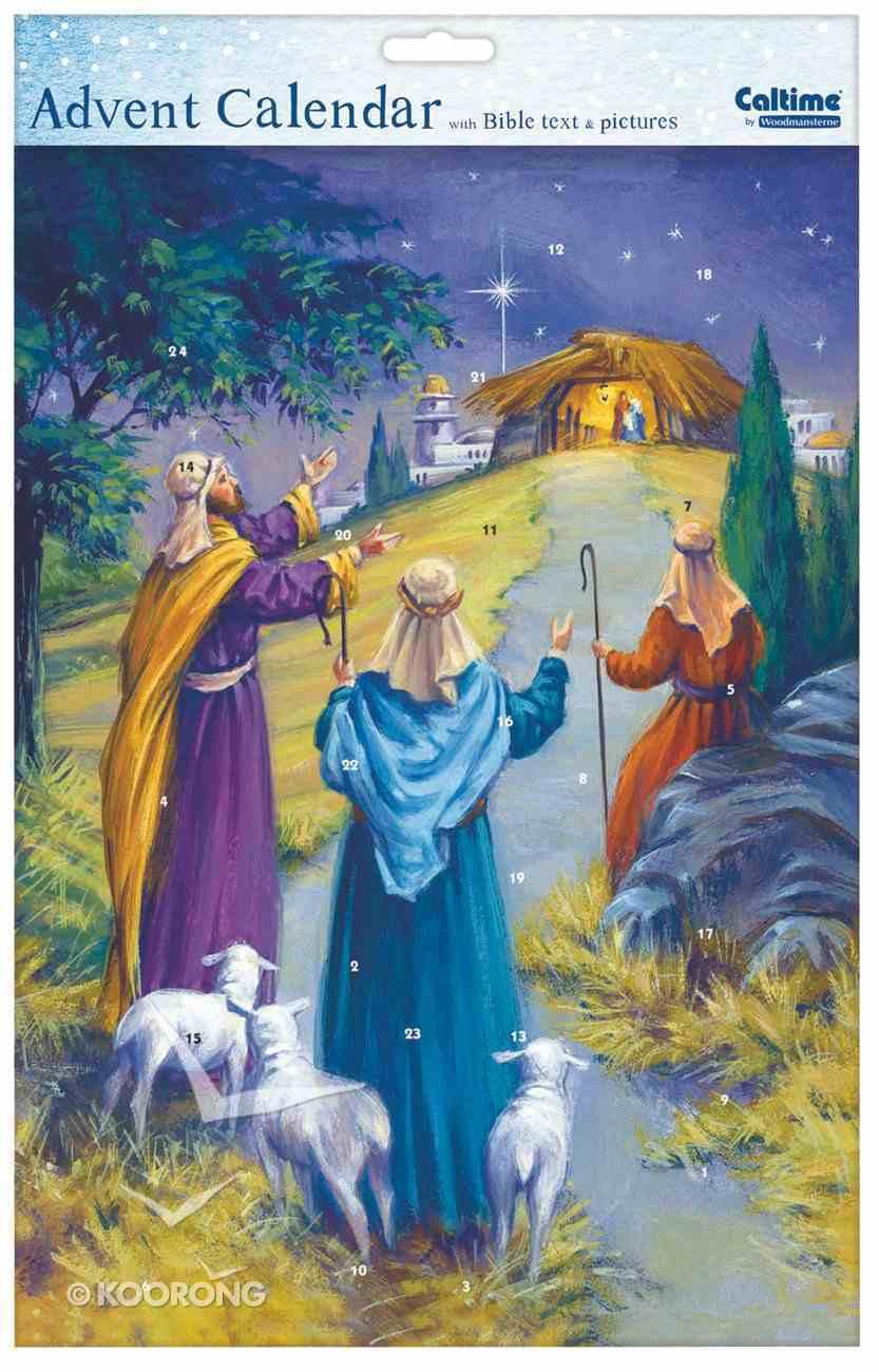 Advent Calendar: Shepherds With Bible Text Calendar