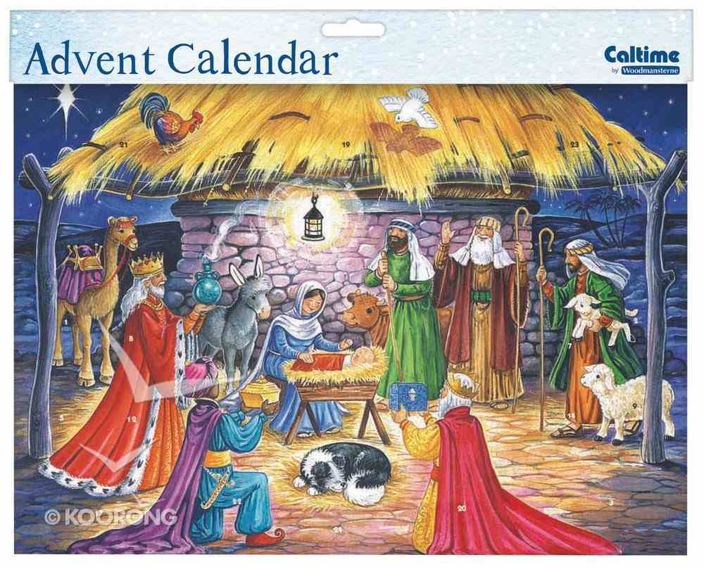 Advent Calendar: Manger Scene With Glitter Calendar