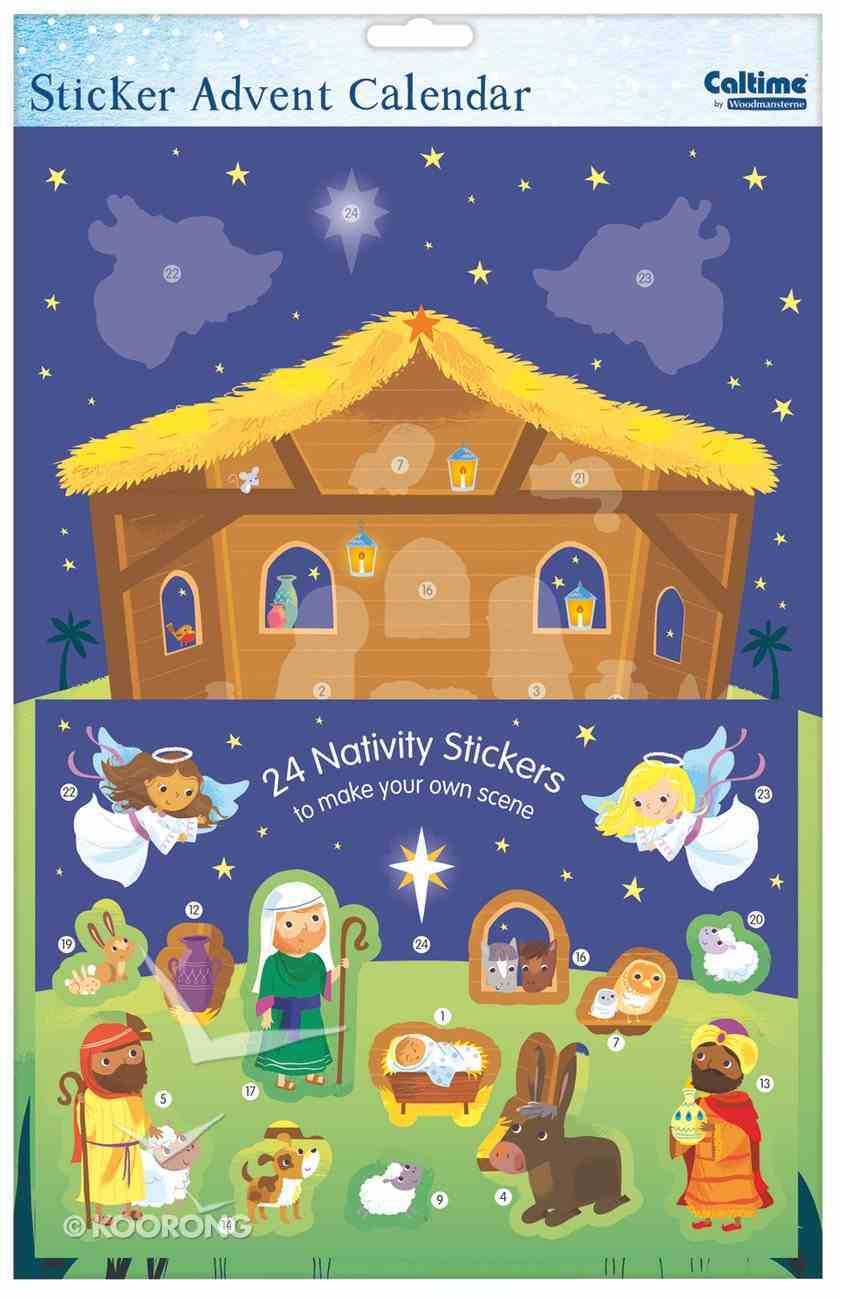 Advent Calendar: Manger Scene With Stickers Calendar