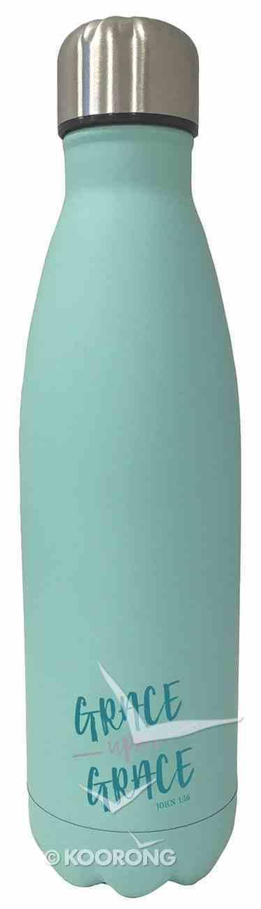 Water Bottle 500ml Stainless Steel: Green - Grace (Vacuum Sealed) Homeware
