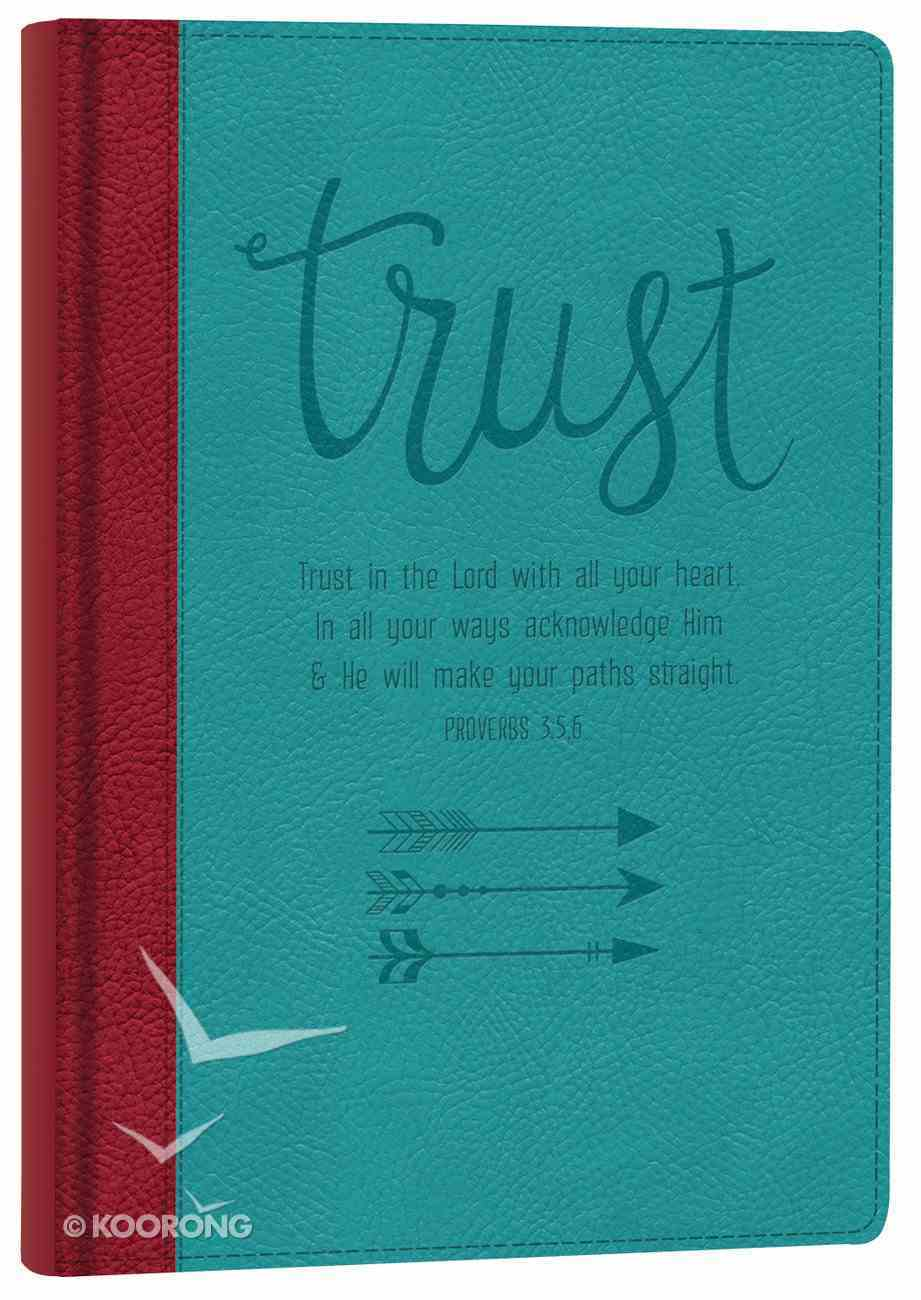 Italian Faux Leather Journal: Trust in the Lord Imitation Leather