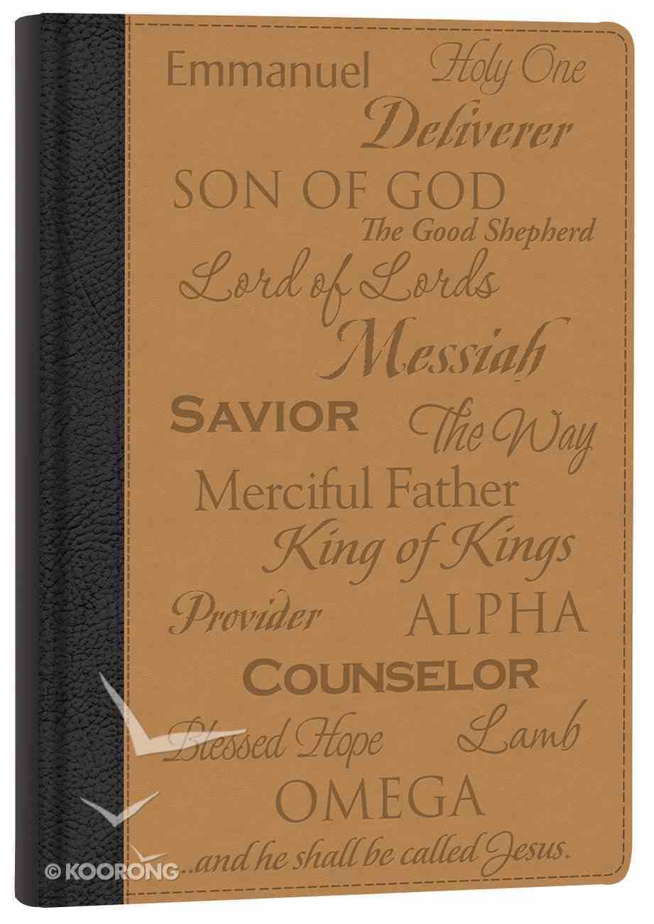 Italian Faux Leather Journal: Names of Jesus Imitation Leather