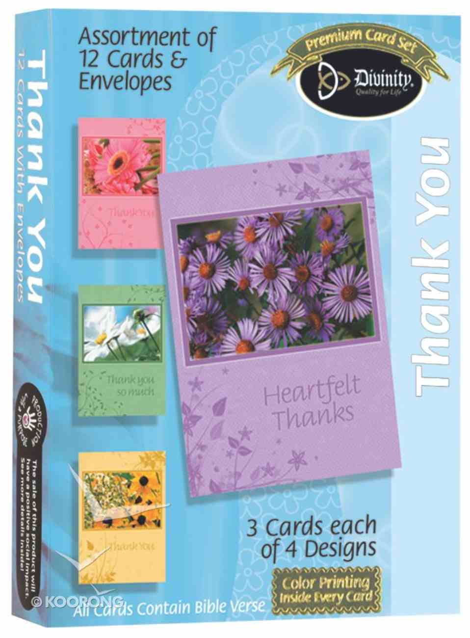 Boxed Cards Thank You: Floral Box