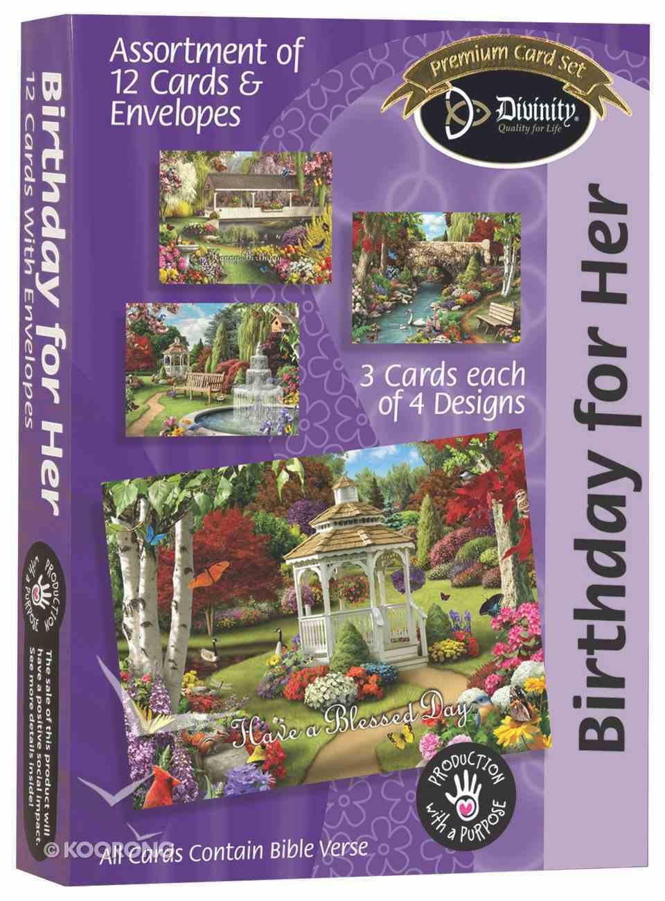 Boxed Cards Birthday For Her: Floral Gardens Box
