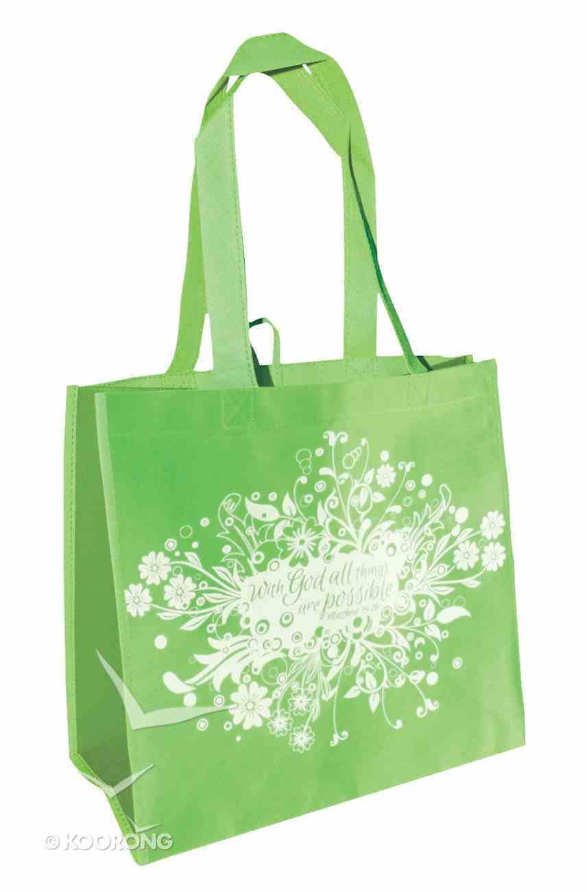 Eco Totes: All Things Are Possible, Green With Dark Green Sides Soft Goods