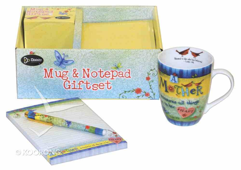 Gift Set: Mug, Notepad & Pen: A Mother Treasures All Things in Her Heart General Gift