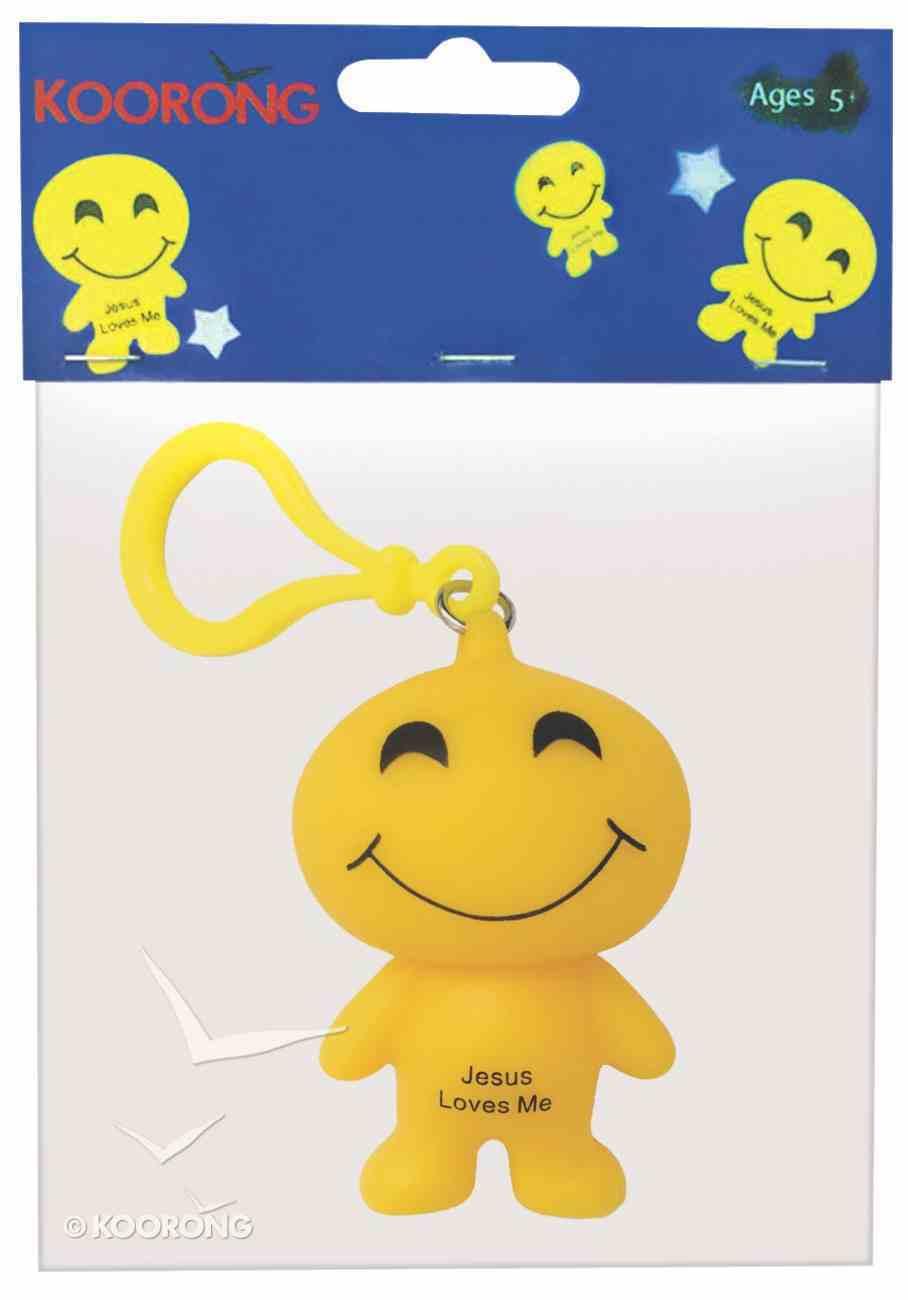 Emoji Keyring Smiley Face: Jesus Loves Me Novelty