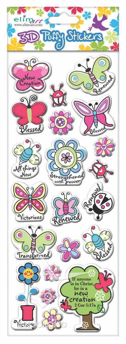 Puffy Stickers: Butterflies Series (1 Sheet Per Pack) Novelty