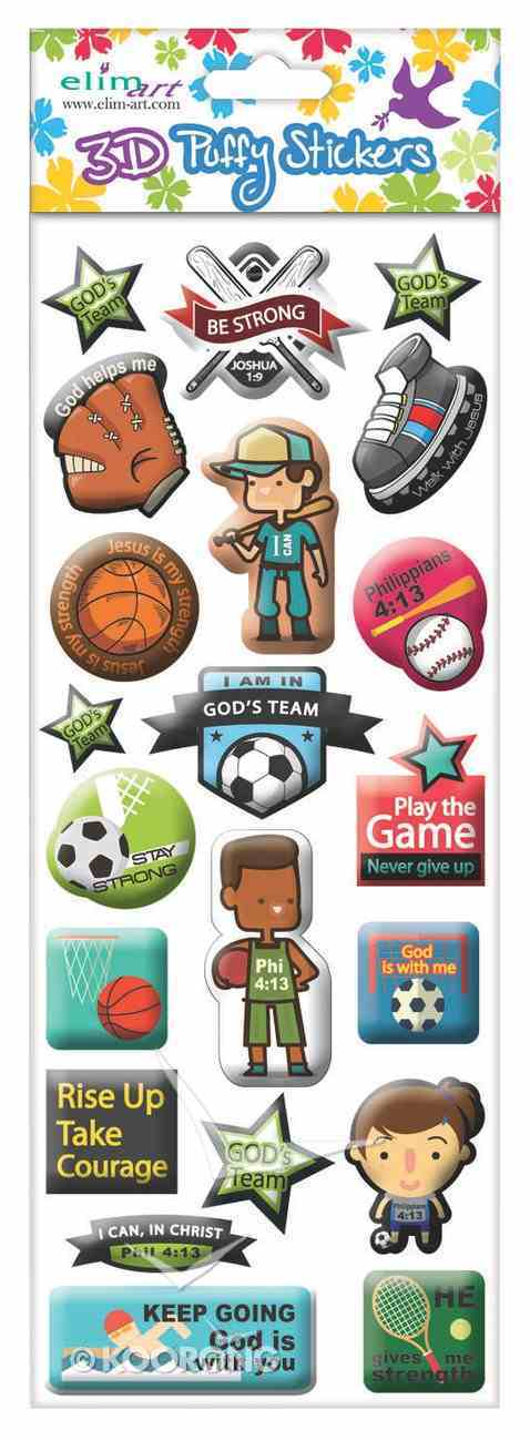 Puffy Stickers: Sports Series (1 Sheet Per Pack) Novelty