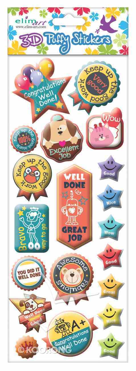 Puffy Stickers: Encouragement Series: (1 Sheet Per Pack) Novelty
