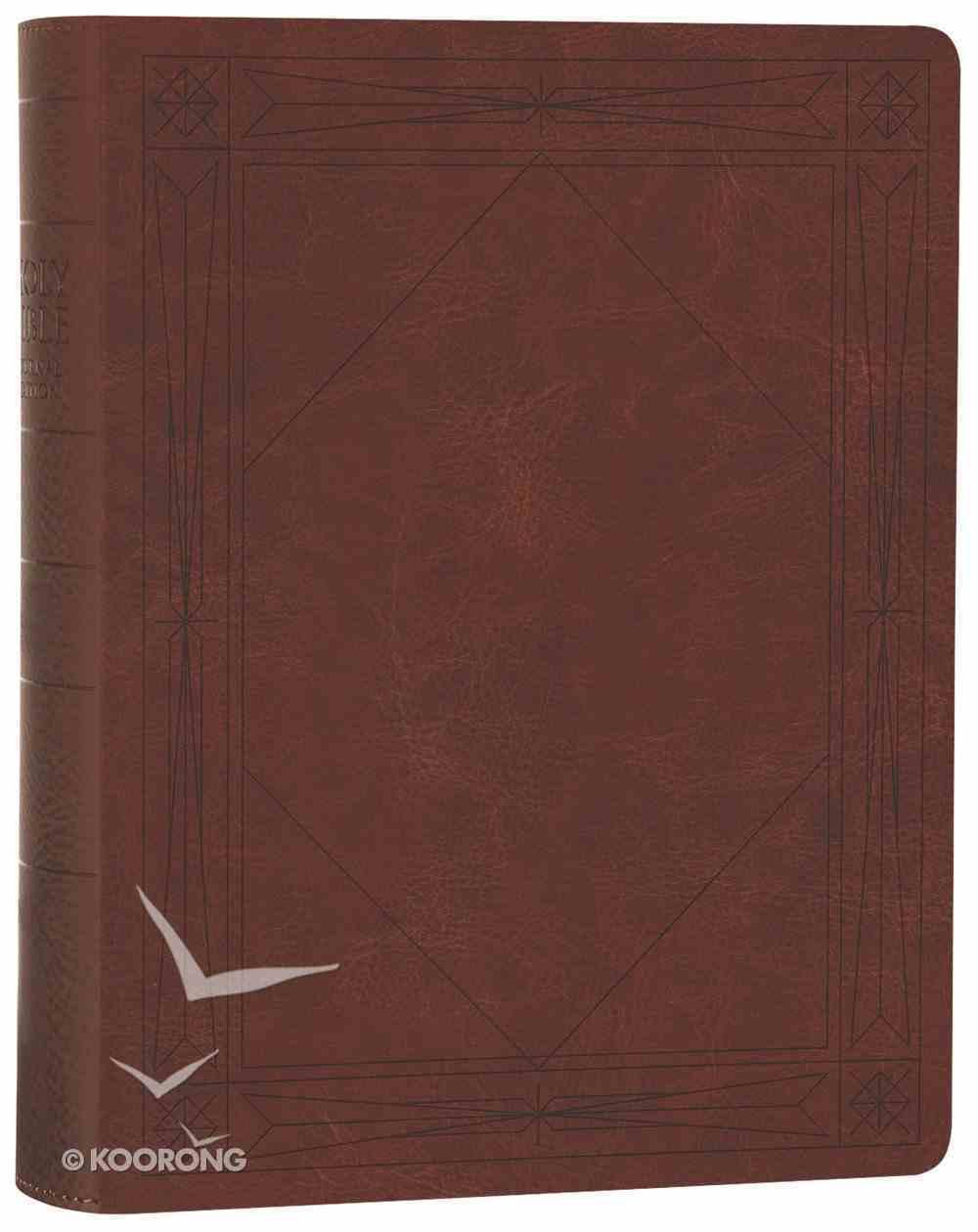 ESV Single Column Journaling Bible Brown Window Hardback
