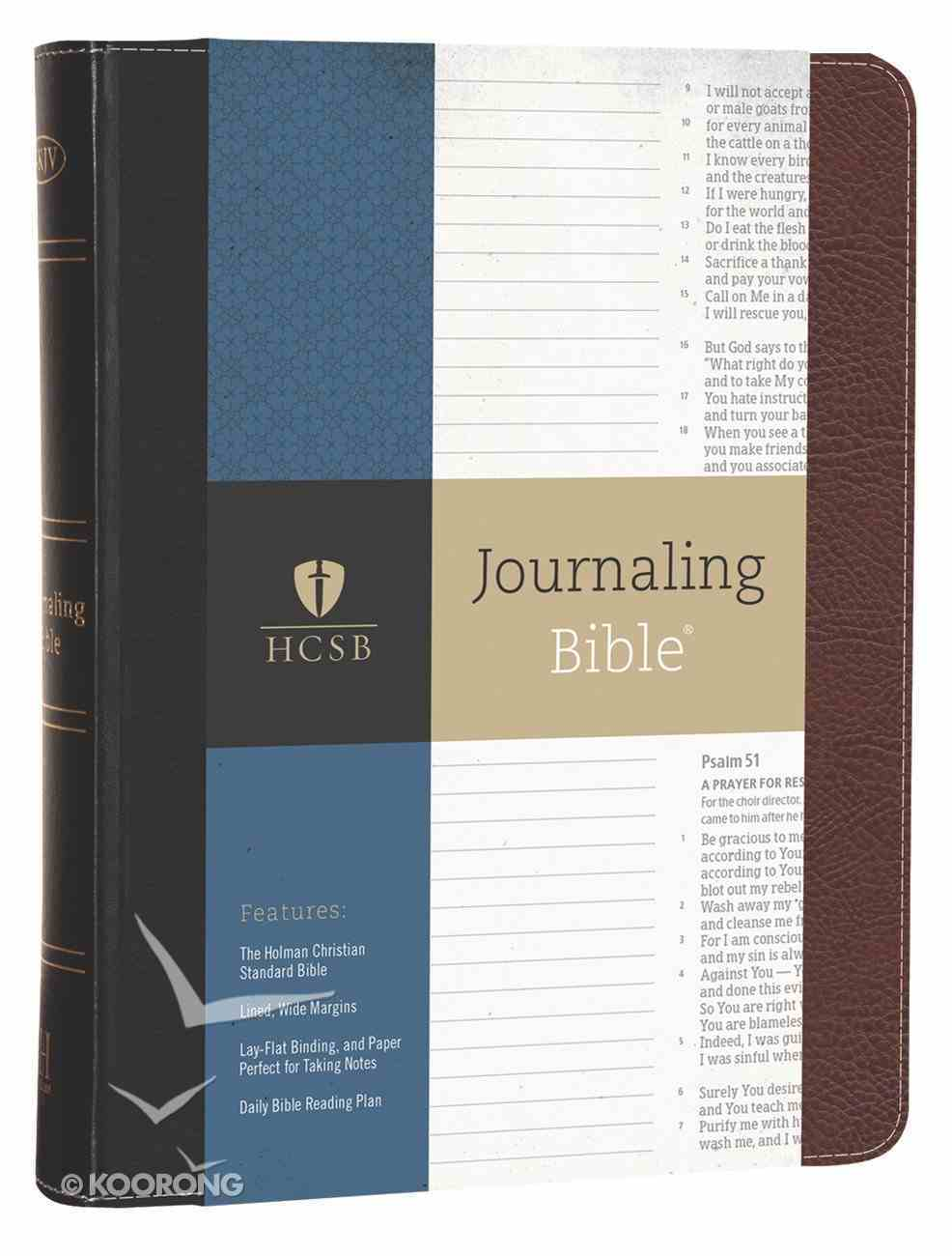 HCSB Journaling Bible Bonded Leather