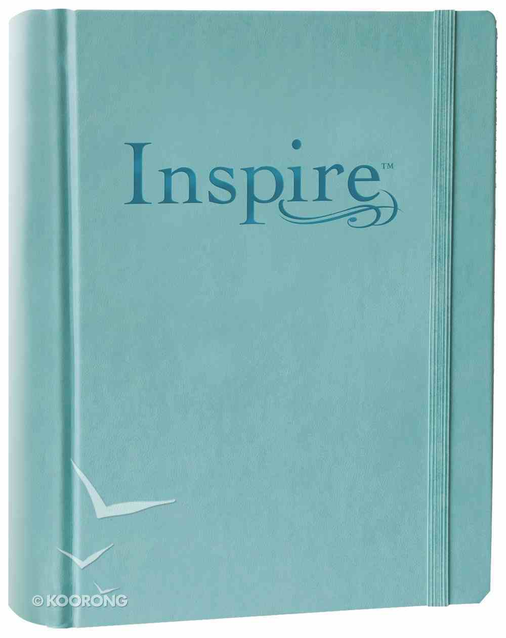NLT Inspire Creative Journaling Bible Large Print Tranquil Blue (Black Letter Edition) Imitation Leather Over Hardback