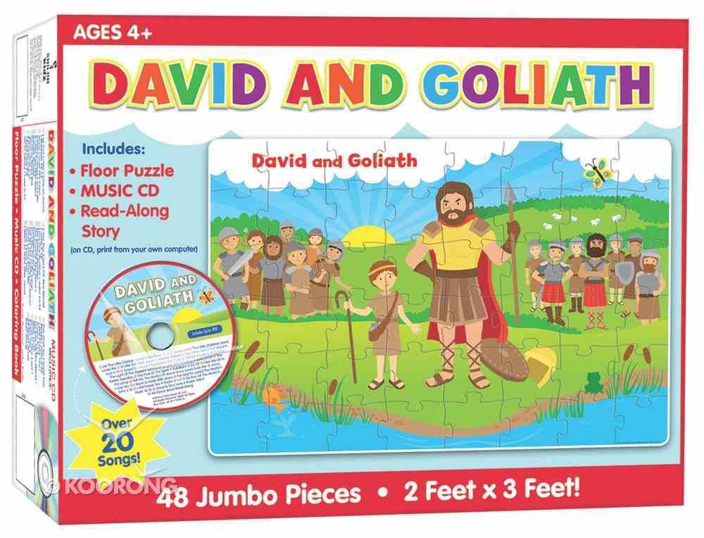 David and Goliath Floor Puzzle & CD (48 Jumbo Pieces) Game