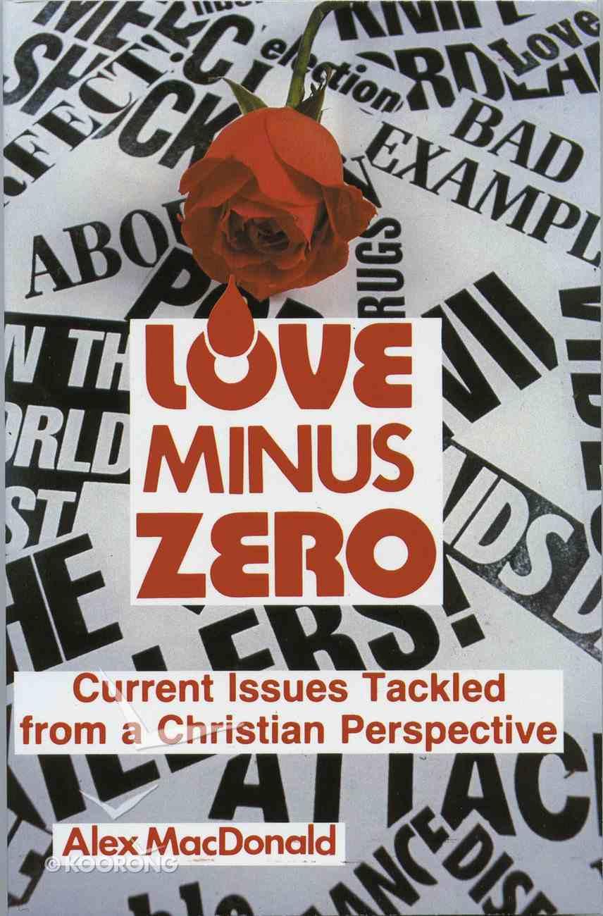 Love Minus Zero Paperback