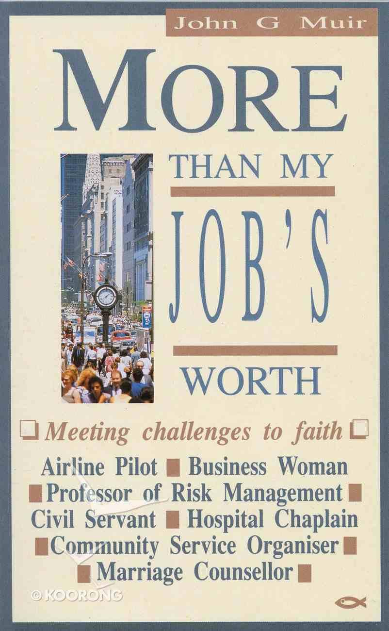 More Than My Job's Worth Paperback